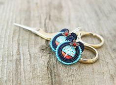 Blue Tree of Life soutache earrings by pUkke on Etsy