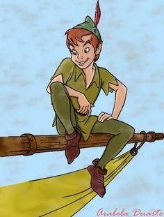 Fan Art of *Peter Pan* for fans of Peter Pan 2829038 Disney Love, Disney Magic, Disney Art, Disney Pixar, Walt Disney, Peter Pan And Tinkerbell, Peter Pan Disney, Peter Pan Costume Kids, Terra Do Nunca