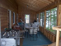 cabin screened porch: add on to the side of the cabin
