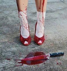 sexy pinups, dark art, seasonal — horrorandhalloween: by Matt Merhoff The Villain, Girl Gang, Pretty Little Liars, Yandere, Dark Art, Oeuvre D'art, Harley Quinn, Red Velvet, Creepy