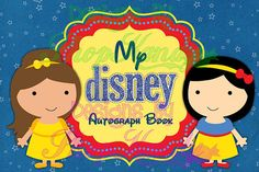 Disney Princess Autograph Book, Disney Autograph Album, Disneyland, Walt Disney World, Disney Vacation, Digital Download Disney Scrapbook