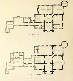 Floor plans for a country estate, England