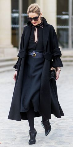 See the socialite's incredible PFW ensembles here.