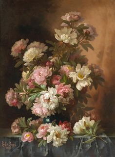 Paul de Longpré (1855-1911) - Roses and Lilacs