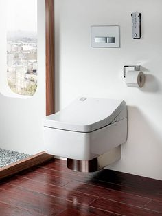New from specialists in high-tech WCs Toto is the SG Washlet, which features warm water for cleansing, heated seat, dryer and deodoriser. It also has a new ewater+ function that sprays the bowl with antibacterial electrolysed water after use to help prevent the build-up of limescale and waste. Priced around £3634.