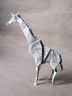 origami giraffe Diagram by Satoshi Kamiya.