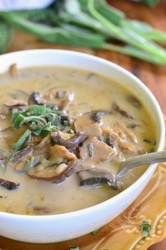 The Best Mushroom Soup | from willcookforsmiles.com