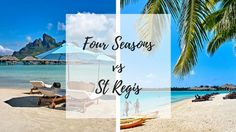 Since Four Seasons opened in the Bora Bora Four Seasons Vs St Regis Bora Bora discussion has been a hot topic. So which one is the best? Four Seasons Bora Bora, Bora Bora Resorts, Beautiful Islands, Beach Mat, Most Beautiful, Outdoor Blanket, Bucket, World, Amazing