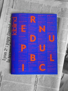 Kiblind cultural magazine by Making Things Public