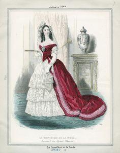 Le Moniteur de la Mode January 1844 LAPL