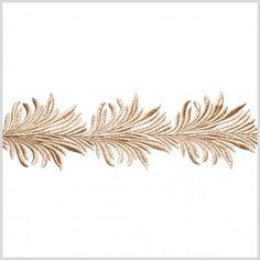 "4"" Metallic Gold Lace Trim"