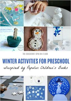 18 Fun and Easy Snow Themed Activities for Your Preschooler. Explore playful snow themed activities with your child this winter. This Winter Preschool Planner focuses on science, art, math, language and more with your winter favorite books. Preschool Planner, Preschool Science Activities, Snow Activities, Winter Activities For Kids, Language Activities, Science For Kids, Science Art, Enrichment Activities, Reading Activities
