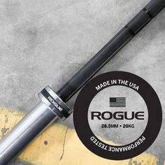 Rogue Bar 2.0 features dual knurl marks for Olympic and powerlifting, a hybrid knurling pattern, and no center knurl.