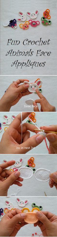 Crochet Animals Face Appliques