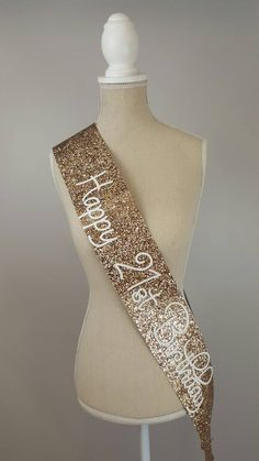 A personal favourite from my Etsy shop https://www.etsy.com/uk/listing/464867927/21st-birthday-sash-glitter-sash