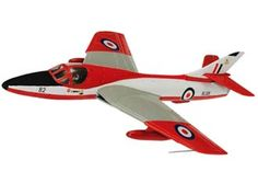 Hawker Hunter T7 Diecast Model Airplane by Corgi AA32715 It is made by Corgi and is 1:72 scale (approx. 14cm / 5.5in wingspan). Hawker Hunter T7 XL591 first flew on 6th August 1958 and was delivered to the RAF the next month. XL591 had a rather colourful career which included spells with DFLS, DFCS, AFDS, and 4 FTS, then moving up to RAF Honington to serve with both 208 Sqn and 237 OCU at different points. This model depicts XL591 in the red and white training scheme it carried when flyi...