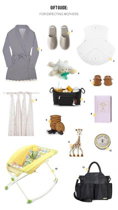 Gift Guide: For Expecting Mothers  Read more - http://www.stylemepretty.com/living/2013/09/24/gift-guide-for-expecting-mothers/