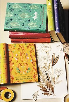 Retail store Anthropologie has placed their magic touch on the classic novel. Rather, London-based artist Daniela Jalengka Terrazzini did, for the store. Using the method of using cloth for book binding, six classics were re-hashed at Terrazzini's hands, one of them being The Secret Garden.
