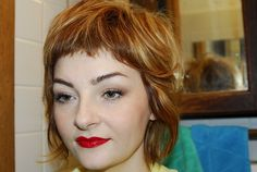 Pixie bangs - maybe it's time for a new look. My Hairstyle, Hairstyles With Bangs, Pretty Hairstyles, Short Bangs, Short Hair Cuts, Grunge Hair, Mi Long, Hair Today, Hair Dos