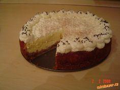 KANADSKÝ DORT Z TVAROHU A SMETANY OPRAVDU SKVĚLÝ. Fondant Cupcakes, Russian Recipes, Desert Recipes, Food To Make, Cheesecake, Food And Drink, Pie, Ice Cream, Sweets