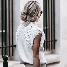 white sweater | Pinpanion