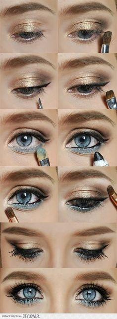 Make up for blue eyes