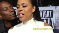 Tyrese Puts Creep Move On Shaunie O'Neal at Straight Outta Compton Premier