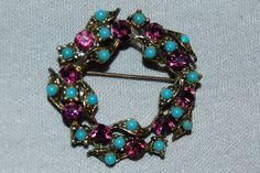 Vintage / Brooch / Turquoise / Beads / by AmericanHomestead, $8.50
