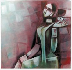 Bengali Art, Indian Artist, African Diaspora, Indian Paintings, Figurative Art, Art Sketches, Woman Abs, Abstract Art, Art Gallery