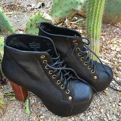 "Jeffrey Campbell Shoes - JEFFREY CAMPBELL ""Lita"" Platform Boots"