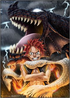 Natsu and Igneel - Fairy Tail Read Fairy Tail, Fairy Tail Art, Fairy Tail Guild, Fairy Tail Manga, Fairy Tales, Gruvia, Fairytail, Zeref, Fairy Tail Pictures