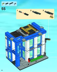 LEGO 60047 Police Station instructions displayed page by page to help you build this amazing LEGO City set Lego City Sets, Lego Sets, Lego Police Station, Lego Architecture, Train Car, Lego Instructions, Cool Lego, Lego Building, City Art