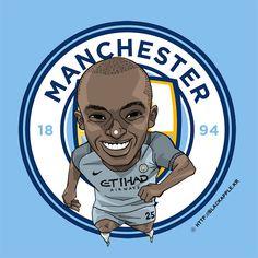 Manchester City No.25 Fernandinho Fan Art Ver2