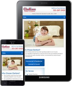 ClarKare Carpet Cleaning (Titusville, FL) - responsive web design