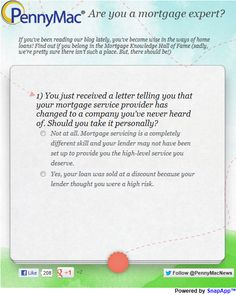 Pennymac Are You A Mortgage Expert Score Range Quiz Told You So Lettering App