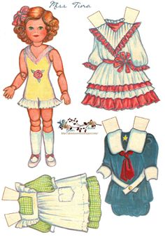 Free Paper Dolls ( more dresses on the blog)