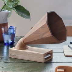"1,289 Likes, 9 Comments - Haigō | very pleasant objects (@haigo.space) on Instagram: "" Forget bluetooth or cables, we got walnut wood, top acoustics and a stunning design. ⊂⊃ ⊂⊃ ⊂⊃ ⊂⊃…"""