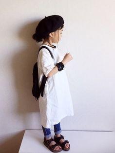GLOBAL WORKのワンピース「【キッズ】ムジドヅメカットワンピース半袖/749688」を使ったmiyuuu.のコーディネートです。WEARはモデル・俳優・ショップスタッフなどの着こなしをチェックできるファッションコーディネートサイトです。
