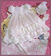 Heirloom Rose Christening Set Designed by Delsie Rhoades