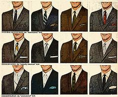 Suits - detail from 1961 Botany 500 ad.