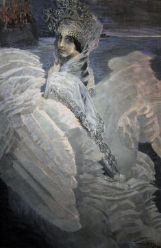 Михаил Врубельミハイル・ヴルーベリ(Mikhail Vrubel 1856ー1910)「Царевна-Лебедь(白鳥の王女)」(1900)