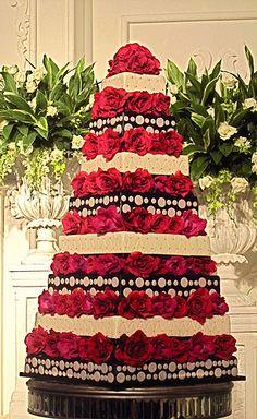 Fayek & Siti's wedding cake | Flickr - Photo Sharing!