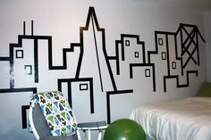 Amazing things a roll of tape can do!.... created by one of my Interior Design buddies! brilliant!!!