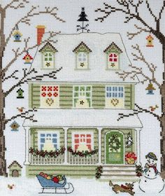 Kit Contains: Fabric, thread, beads, sequins, needle, chart and instructions.Type: Counted Cross Stitch KitFabric: 14 count ice blue Zweigart AidaSize:...