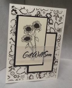 Vellum.     Sentiment stamped on vellum  with StazOn
