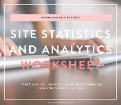 downloadable site statistics worksheet