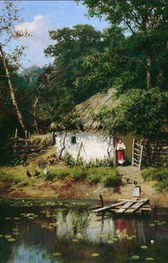 "A.A. Kiseliov, "" Ukrainian house"" 1883"