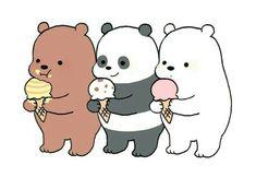 Фото Гриз / Grizz, Панда / Pan-man и Белый / Ice Bear из м. - Mejor Tutorial and Ideas Cute Bear Drawings, Cute Cartoon Drawings, Cute Kawaii Drawings, Cute Panda Wallpaper, Bear Wallpaper, Polar Bear Drawing, We Bare Bears Wallpapers, We Bear, Dibujos Cute