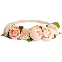 H&M Hairband with flowers ($7.85) ❤ liked on Polyvore featuring accessories, hair accessories, h&m, powder beige, hair band headband, h&m hair accessories, elastic headbands, hair bands accessories and head wrap headband