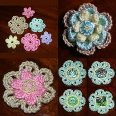 Top 5 Sites for Free Crochet Patterns: Pictured Here: Simple, Easy Crocheted Flowers. Free Crochet Patterns For These Flowers Are Available on Our Website. Scroll Down for Many More Free Crochet Patterns.